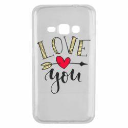 Чохол для Samsung J1 2016 I love you and heart