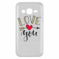 Чохол для Samsung J2 2015 I love you and heart