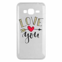 Чохол для Samsung J3 2016 I love you and heart