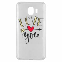 Чохол для Samsung J4 I love you and heart