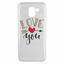 Чохол для Samsung J6 I love you and heart