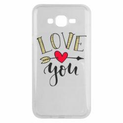 Чохол для Samsung J7 2015 I love you and heart