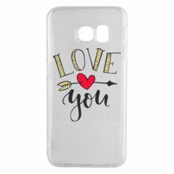Чохол для Samsung S6 EDGE I love you and heart