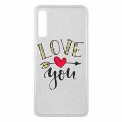 Чохол для Samsung A7 2018 I love you and heart