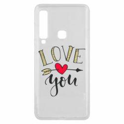 Чохол для Samsung A9 2018 I love you and heart