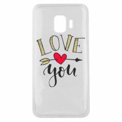 Чохол для Samsung J2 Core I love you and heart