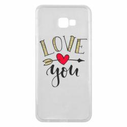 Чохол для Samsung J4 Plus 2018 I love you and heart