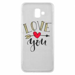 Чохол для Samsung J6 Plus 2018 I love you and heart