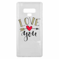 Чохол для Samsung Note 9 I love you and heart