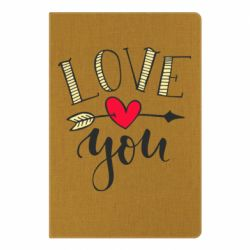 Блокнот А5 I love you and heart