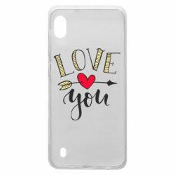 Чохол для Samsung A10 I love you and heart