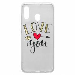 Чохол для Samsung A30 I love you and heart