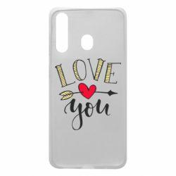 Чохол для Samsung A60 I love you and heart