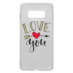 Чохол для Samsung S10e I love you and heart