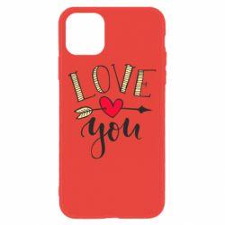 Чохол для iPhone 11 I love you and heart
