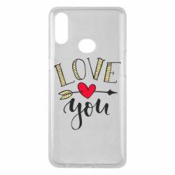 Чохол для Samsung A10s I love you and heart
