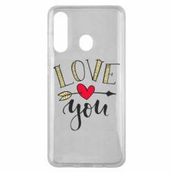 Чохол для Samsung M40 I love you and heart