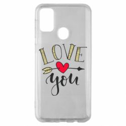 Чохол для Samsung M30s I love you and heart