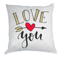 Подушка I love you and heart