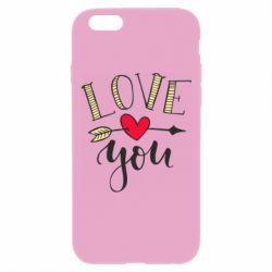 Чохол для iPhone 6 Plus/6S Plus I love you and heart