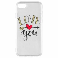 Чохол для iPhone 7 I love you and heart