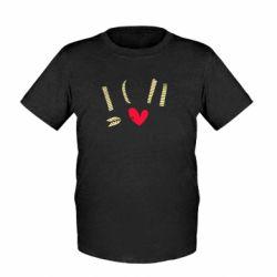 Дитяча футболка I love you and heart