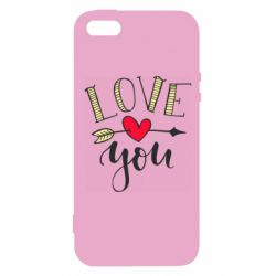 Чохол для iphone 5/5S/SE I love you and heart