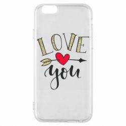 Чохол для iPhone 6/6S I love you and heart