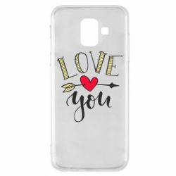 Чохол для Samsung A6 2018 I love you and heart