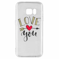 Чохол для Samsung S7 I love you and heart