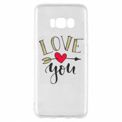 Чохол для Samsung S8 I love you and heart
