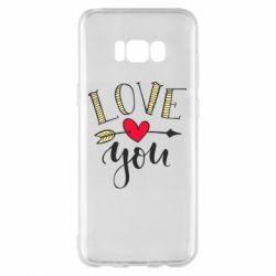 Чохол для Samsung S8+ I love you and heart
