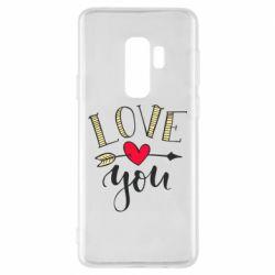 Чохол для Samsung S9+ I love you and heart