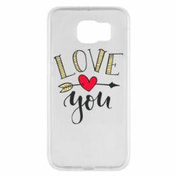Чохол для Samsung S6 I love you and heart