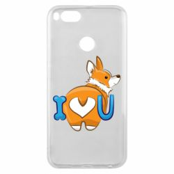 Чехол для Xiaomi Mi A1 I love you corgi