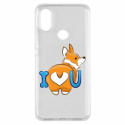 Чехол для Xiaomi Mi A2 I love you corgi