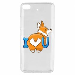 Чехол для Xiaomi Mi 5s I love you corgi