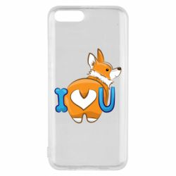 Чехол для Xiaomi Mi6 I love you corgi