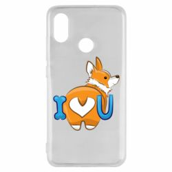 Чехол для Xiaomi Mi8 I love you corgi