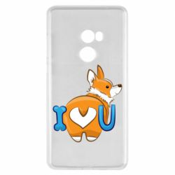 Чехол для Xiaomi Mi Mix 2 I love you corgi