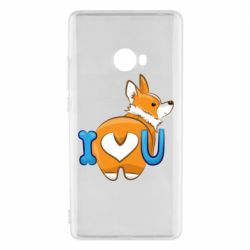 Чехол для Xiaomi Mi Note 2 I love you corgi
