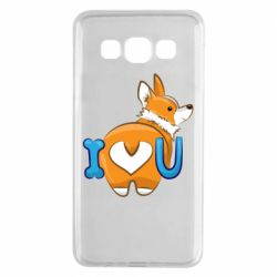 Чехол для Samsung A3 2015 I love you corgi