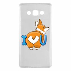 Чехол для Samsung A7 2015 I love you corgi