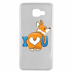 Чехол для Samsung A7 2016 I love you corgi