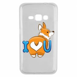 Чехол для Samsung J1 2016 I love you corgi