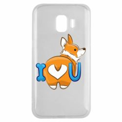 Чехол для Samsung J2 2018 I love you corgi