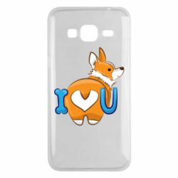 Чехол для Samsung J3 2016 I love you corgi