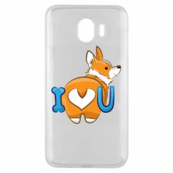 Чехол для Samsung J4 I love you corgi