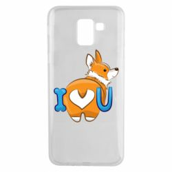 Чехол для Samsung J6 I love you corgi