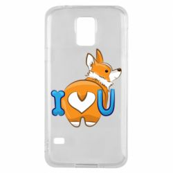 Чехол для Samsung S5 I love you corgi